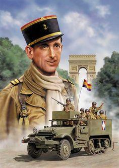 """ESERCITO FRANCESE - Volontario repubblicano spagnolo della 9a Compagnia della 2a divisione """"Leclerc"""" della Francia Libera."""