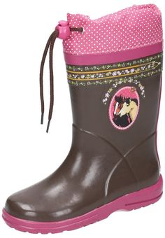 Pluie Pluie Little Girls Green//Pink Plaid Rain Boots