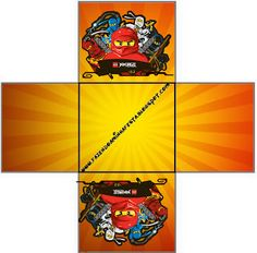 Lego Ninjago - Kit Completo com molduras para convites, rótulos para guloseimas, lembrancinhas e imagens! Birthday Themes For Boys, 9th Birthday Parties, Kids Party Themes, Birthday Party Decorations, Boy Birthday, Lego Ninjago, Ninjago Party, Printable Box, Free Printables