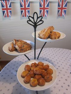 English Tea Party (strawberry scones, blueberry scones, and mini custard-filled puffs)
