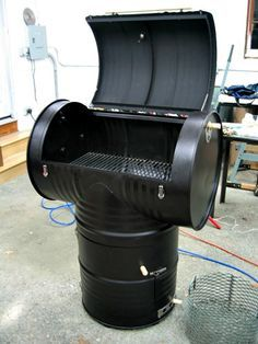 How to Make a 55 Gallon Drum Smoker http://diyhomesweethome.com/how-to-make-a-55-gallon-drum-smoker/