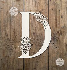 Floral Letter 'D' SVG PDF Design Papercutting Vinyl