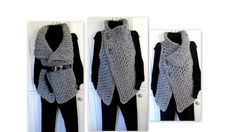(4) Name: 'Crocheting : 884, CROCHET Wrap Vest, Easy Beginner
