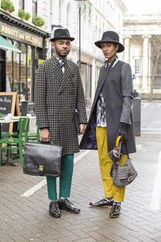 vogue/ london collections men | Martell and Donya Campbell, Street style at #LCM