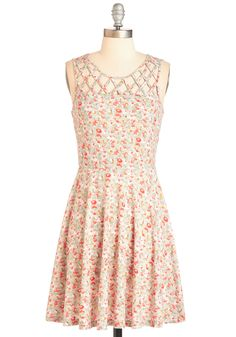Fields Like Love Dress, $55, ModCloth.  I love the illusion neckline and pretty floral.