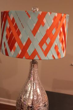 Lampshade Renovation with Ribbon | Daisy Mae Belle