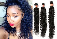 "Brazilian Hair Extensions Real 100% Human Virgin Remy Hair 3Bundles 16""18""20"" US #WIGISS #HairExtension"