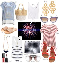 Get inspiration for your 4th of July style. The perfect way to incorporate some red, white, and blue to your 4th of July celebration.