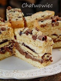 Definitely myst try making this. Bakery Recipes, Easy Cake Recipes, Easy Desserts, Sweet Recipes, Dessert Recipes, Polish Desserts, Polish Recipes, Chocolate Ganache Tart, High Carb Foods