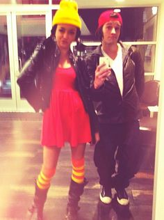 Celebs' 2012 Halloween Costumes: Sarah Hyland and Matt Procop as TJ and Spinelli from Disney's Recess