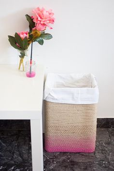 How about a Trendy DIY Ombre Rope Hamper created by One O! Great for the kids room…laundry room or even fabulous for storing toys! You WON'T believe what this is made out of…all I can tell you is that it is extremely budget friendly!