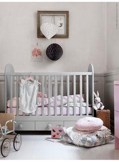 Fin färgkombination med grått och rosa