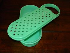 Vintage Tupperware Shredder with Container, Vintage Kitchen, Green Tupperware Shredder on Etsy, $4.00