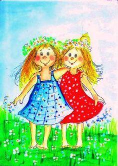 quenalbertini: Best friends by Virpi Pekkala Happy Friendship Day, Friendship Quotes, Friends In Love, Best Friends, Sisters In Christ, Soul Sisters, Humor Grafico, Best Friend Quotes, Friend Sayings