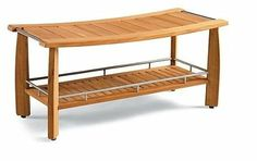 "Amazon.com: New Grade A Teak Wood Luxurious Outdoor Garden 42"" Estate-size Teak Shower Backless Bench: Patio, Lawn & Garden"