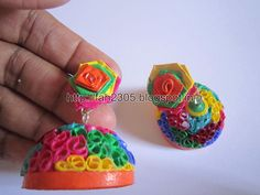 Free Form Quilling - Paper Quilling Jhumka (FAH197) (5)