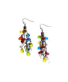 Look at this #zulilyfind! Rainbow Bead Drop Earrings by ZAD #zulilyfinds