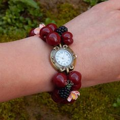 OOAK one of a kind  Flower summer watch  Floral Watch