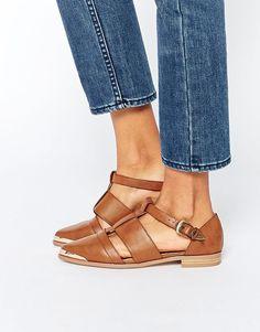 Image 1 ofASOS MYTH Flat Shoes