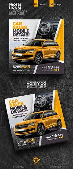 Buy Car Sales Social Media Templates by grafilker on GraphicRiver. Car Sales Social Media Templates Fully layered INDD Fully layered PSD 300 Dpi, CMYK IDML format open Indesign or . Social Media Planner, Social Media Art, Social Media Poster, Social Media Detox, Social Media Quotes, Social Media Graphics, Social Media Measurement, Social Media Template, Web Banner Design