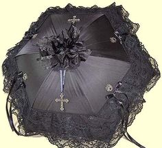I found 'Gothic Lolita Black Cross Parasol' on Wish, check it out!