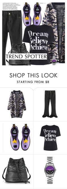 """""""Street Style"""" by pokadoll ❤ liked on Polyvore featuring Dr. Martens, Armani Jeans, Karl Lagerfeld, Hedi Slimane, polyvoreeditorial and polyvoreset"""