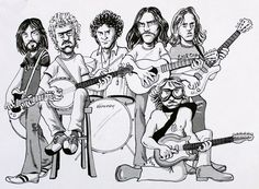 Rip Glenn, Glenn Frey, Randy Meisner, Eagles Band, Watercolor Sketch, Music Stuff, Cool Bands, Music Artists, Sketches