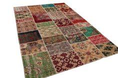 Patchwork vloerkleed, vintage, divers, 300cm x 200cm | Rozenkelim.nl - Groot assortiment kelim tapijten