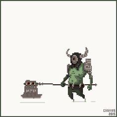 'Haunted Executioner' for #CreatureOfMorta #pixel_dailies @Pixel_Dailies good luck with the Kickstarter!