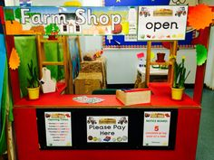 Discover recipes, home ideas, style inspiration and other ideas to try. Role Play Areas Eyfs, Early Years Teaching, Reception Class, Transitional Kindergarten, Play Shop, School Displays, Farm Shop, Nursery Rhymes, Nursery Room