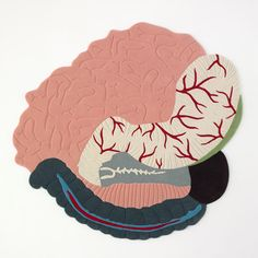 Flat Surgery by Mathieu Lehanneur, series of rugs depicting squashed vital organs. Textiles, Textile Patterns, Textile Art, Mathieu Lehanneur, Modern Rugs, Cool Art, Awakening, Arts And Crafts, Kids Rugs