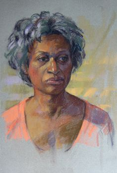 Pastel Portrait by Jill Stefani Wagner.  I love the colors in the skin tones and reflected light.