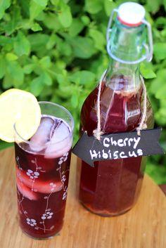 Tart Cherry Hibiscus Kombucha | Cultured Food Life