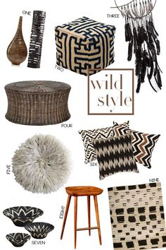 Wild Style: Tribal and Ethnic Home Decor with the exception of 5