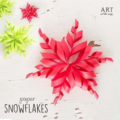 Paper Snowflakes ❄️💕 Snowflakes everywhere, because it's again that time of the year😍💕 By: Diy Christmas Paper Decorations, Christmas Craft Projects, Holiday Crafts, Cool Paper Crafts, Paper Crafts Origami, Diy Paper, Diy Crafts, Paper Snowflakes, Christmas Snowflakes