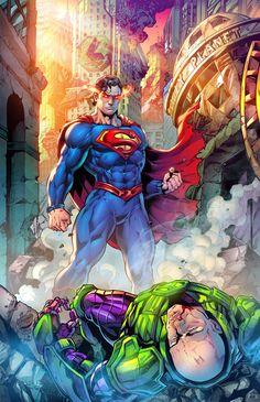 Supergirl Superman, Batman Vs Superman, Superman Artwork, Superman Stuff, Batman Universe, Dc Universe, Comic Books Art, Comic Art, Adventures Of Superman
