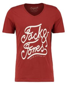 Jack & Jones Jornut Slim Fit - Print T-shirt Rosewood Men,jack & jones shirts jabong,Huge Discount