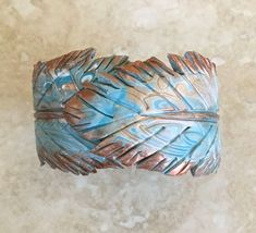 Premo! Feather Clay Spring Hinge Bracelet