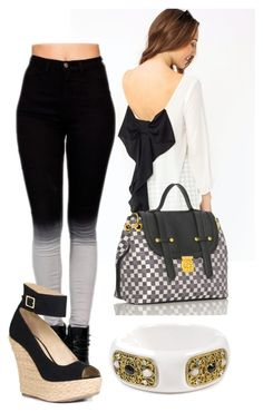 09c89d2173b8 StyledBySky  Something Classic by sky-lisette on Polyvore featuring JustFab  and Kenneth Jay Lane