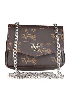 Versace 1969 abbigliamento sportivo srl milano italia - borsa tracolla - materiale: eco - pelle - un manico - chiusura m - Borsa a tracolla donna  Marrone