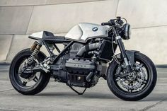 Is the BMW due for a turn in the custom limelight? We reckon so. This cafe racer from LA has a brutal beauty you don't often see. Bmw Cafe Racer, Cafe Racer Build, Cafe Racers, K100 Bmw, Bmw R75, Retro Motorcycle, Cafe Racer Motorcycle, Bmw Motorcycles, Custom Motorcycles