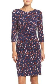Alternate Image 1 Selected - Adrianna Papell Print Stretch Sheath Dress (Regular & Petite)