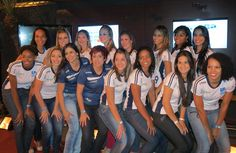 Samanta, preparadora física, Sandra Leão, técnica e time feminino campeonato 2013-2014