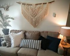Sold on Etsy, NyxonCreations! Large Macrame Wall Hanging, Selling Your House, Beautiful Wall, Sell On Etsy, Boho Decor, House Warming, Love Seat, Diy Home Decor, Backdrop Wedding