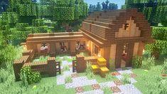 Minecraft Stables, Minecraft Barn, Minecraft Shops, Minecraft House Plans, Minecraft Houses Survival, Minecraft Cottage, Easy Minecraft Houses, Minecraft House Tutorials, Minecraft Castle