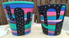 Idea Of Making Plant Pots At Home // Flower Pots From Cement Marbles // Home Decoration Ideas – Top Soop Flower Pot Art, Flower Pot Design, Flower Pot Crafts, Clay Pot Crafts, Cactus Flower, Painted Plant Pots, Painted Flower Pots, Pottery Painting, Ceramic Painting