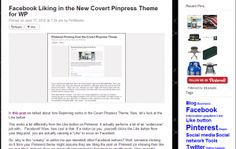Using Sidebars in the Covert Pinpress Theme