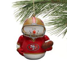 San Francisco 49ers Snowman Ornament