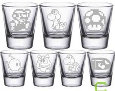 Check out our mario bros selection for the very best in unique or custom, handmade pieces from our shops. Yoshi, Dyi, Sherry Glasses, Liqueur Glasses, Nintendo Characters, Mario Bros., Handcrafted Jewelry, Handmade, Drink Holder