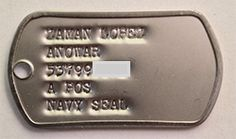 Chapas Militares Identificativas Personalizadas con Grabado Troquelado Fotos Chapas de Identificación estilo Militar